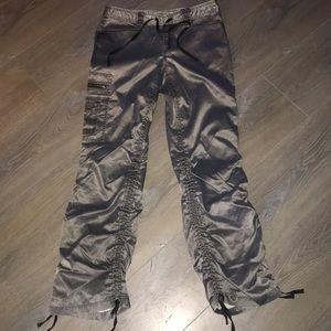 Express Metallic Cargo Pants